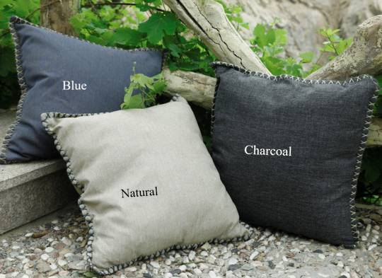 MM Linen - Kalo Outdoor Cushion -  Blue