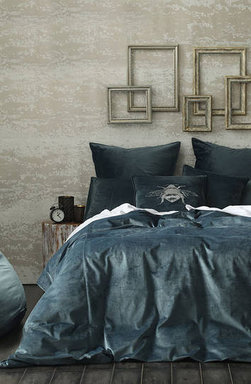MM Linen - Velvet Duvet Cover Set - Bluestone
