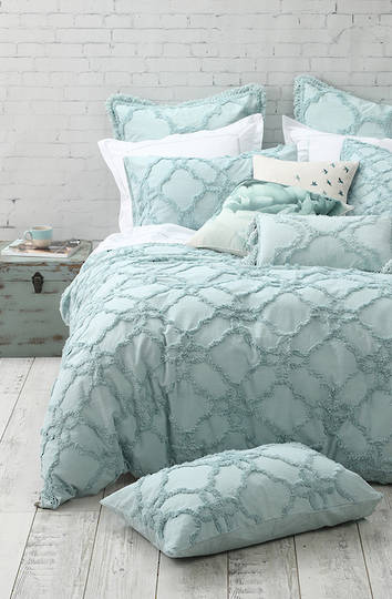 MM Linen - Clover Duvet Cover Set- Duckegg