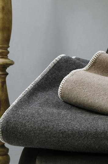 MM Linen - Wellshead NZ Wool Blanket - Charcoal