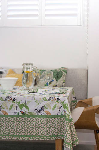 MM Linen - Aviary Table Cloth