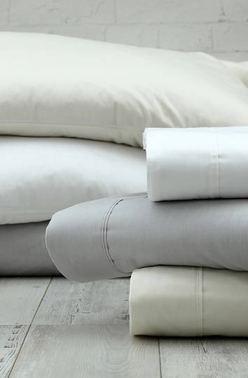 MM Linen Croft 300TC White Sheet Set / Extra Pillowcases Sold Separately