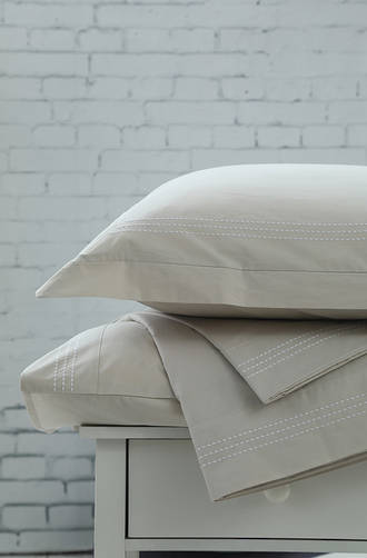 MM Linen Cove Natural Sheet Set / Extra Euros and Pillowcases Sold Separately