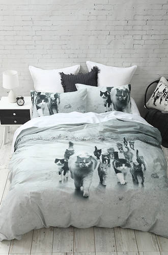 MM Linen - Catmob Duvet Cover Set / Cushion sold separately