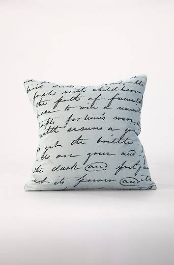 MM Linen - Love Poem Velvet Cushion