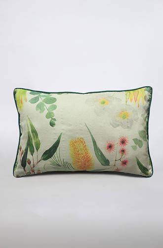 MM Linen - Poppy Silk/Linen Cushion