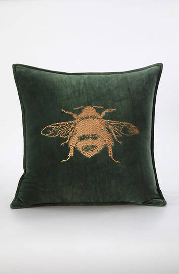 MM Linen - Beemine Cushion  Forest