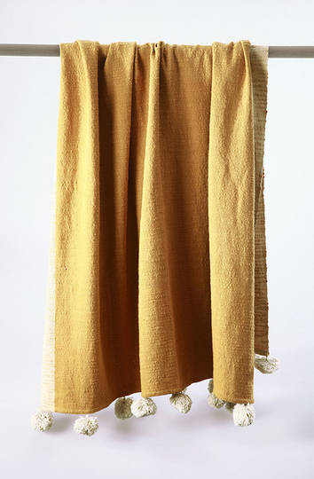 MM Linen - Gigi Throw - Gold