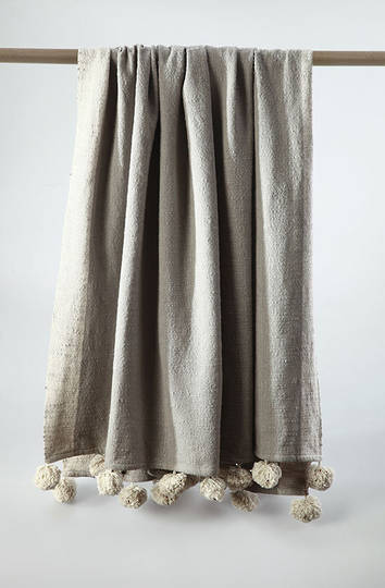 MM Linen - Gigi  Cotton Throw - Natural