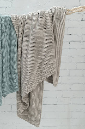 MM Linen -  Bronte Cotton Throw - Putty