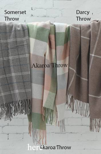 MM Linen -  Akaroa NZ Wool Throw / Blanket