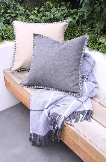 MM Linen - Kalo Outdoor Cushion - Charcoal