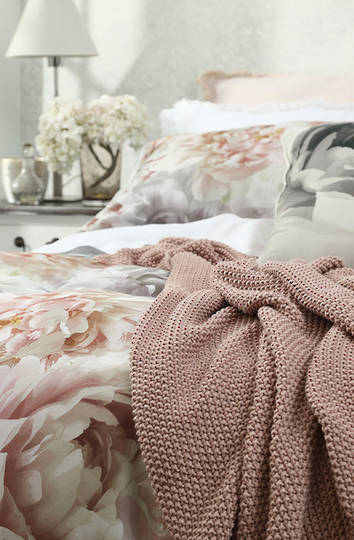 MM Linen - Bronte  Cotton Throw - Cameo