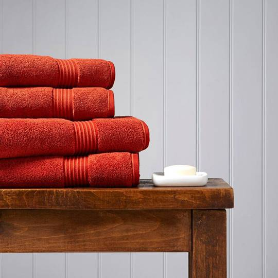 Christy Supreme Hygro Towels, Hand Towels & Face Cloths - Paprika