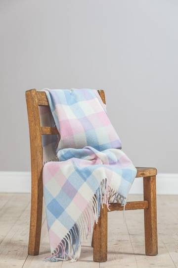 Foxford - Lambswool Throw - Multi Check Baby Throw