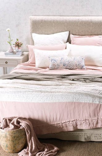 Bianca Lorenne Rafelle Petal Linen Bedspread / Pillowcases - Sold Separately