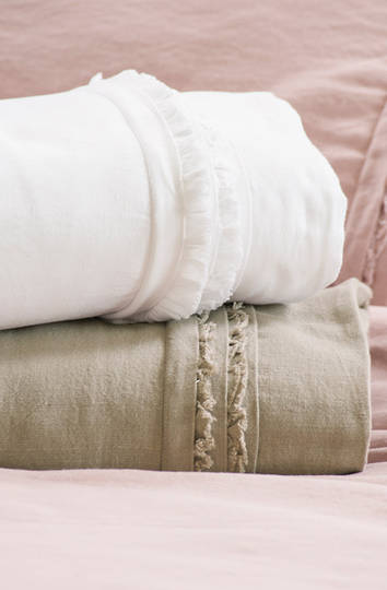 Bianca Lorenne Rafelle Natural Linen Duvet Cover / Pillowcases Sold Separately - ON SALE