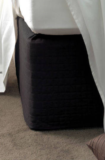 Suede Quilted Bedwrap  Black