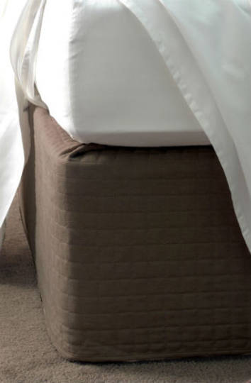 Suede Quilted Bedwrap  Chocolate