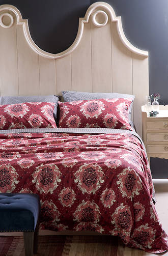 Bianca Lorenne Serafena Carmine Red Duvet Cover Set / Pillowslips & Euros Sold Separately