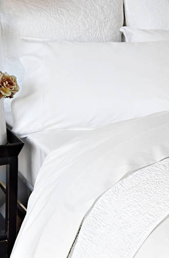 Sheridan Shawcraft Antique White Cotton Sateen Sheet Sets/Pillowcases Sold Separately