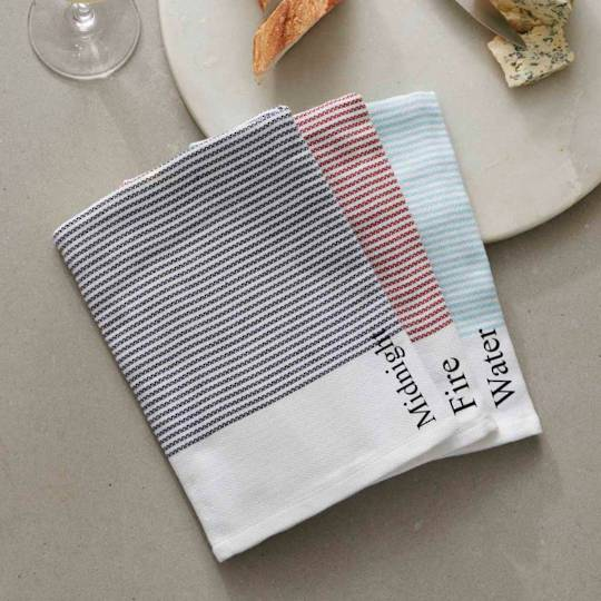 Baksana - Thirsty Tea Towels - Water/Fire/Midnight
