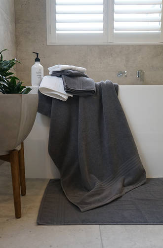 MM Linen - Charcoal Reve Towels