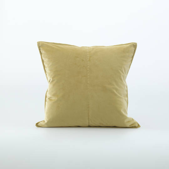 MM Linen - Velvet Cushion - Raffia