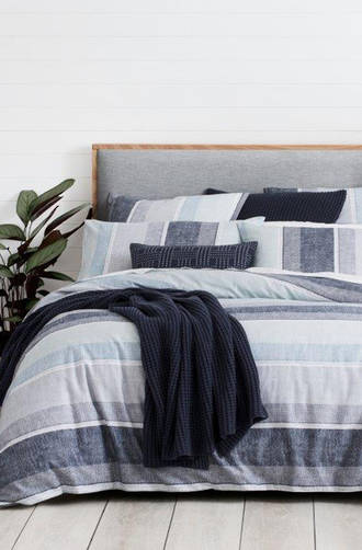 Sheridan Zander Midnight Duvet Cover Set / Eurocase  Sold Separately