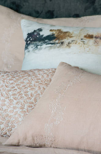 Bianca Lorenne Bellota Vintage Rose Linen Bedspread / Pillowcases Sold Separately