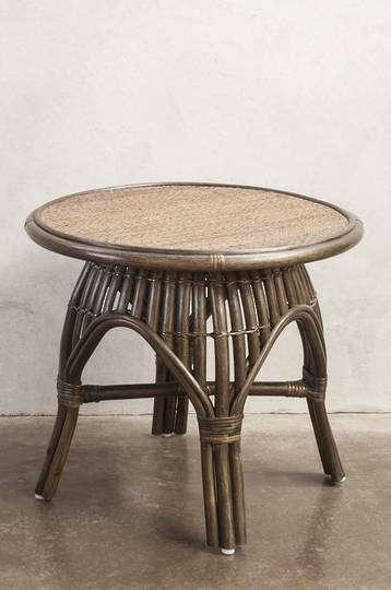 Bianca Lorenne - Bosa Brown Wash/Black Rattan Bedside/Coffee Table
