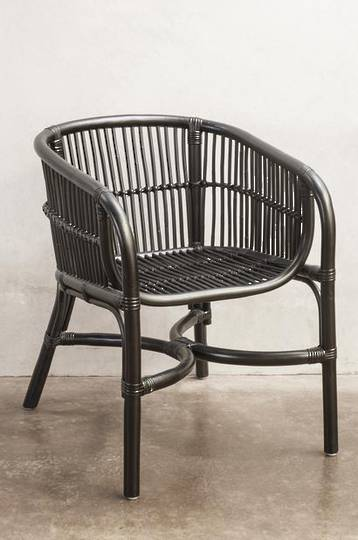 Bianca Lorenne - Campania Black/Brown Wash Ratten Armchair