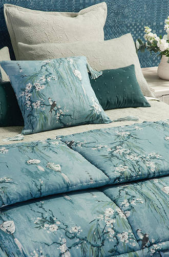 Bianca Lorenne - Chouchin Cerulean Blue Comforter and Cushion sold separately