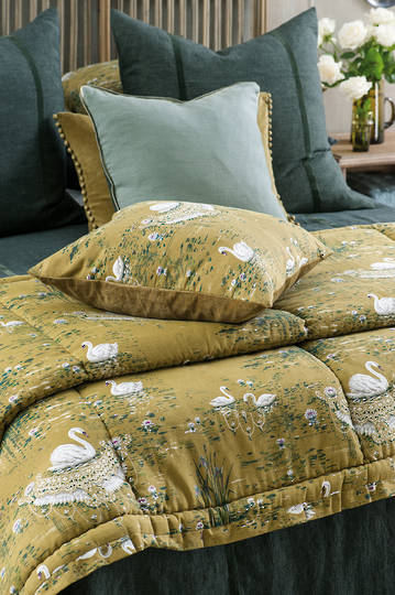 Bianca Lorenne - Cigna - Olive Comforter / Pillowcase/Eurocase/Cushion