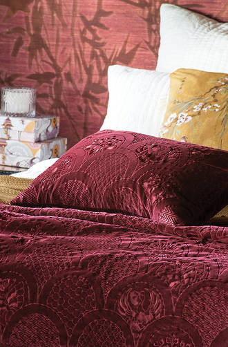Bianca Lorenne - Ereganto Berry Comforter/Euros and Cushion - Sold Separately