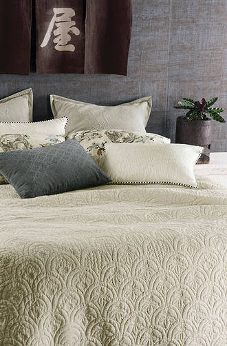 Bianca Lorenne Etsu Oatmeal Bedspread / Pillowcases Sold Separately