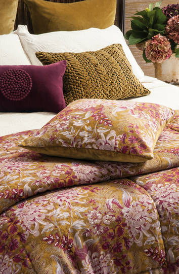 Bianca Lorenne - Giardino Antique Gold Comforter / Pillowcases Eurocases & Cushion Sold Separately