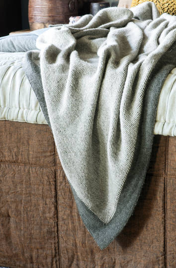 Bianca Lorenne - Komorebi Charcoal Knitted Throw
