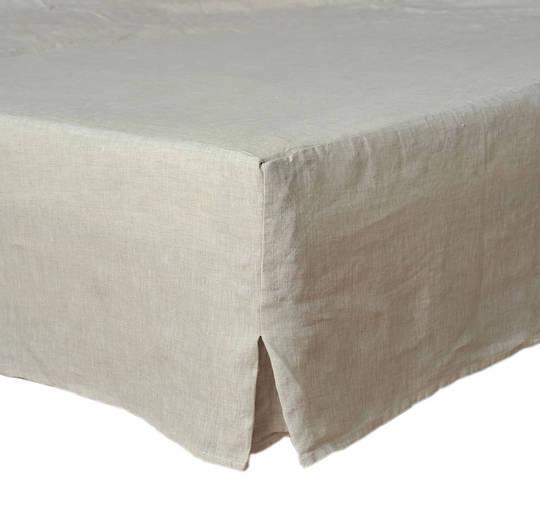MM Linen - Laundered Linen - Bed Skirt/Valance - Natural