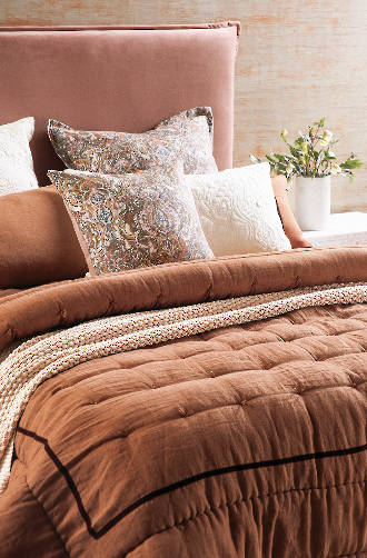 Bianca Lorenne - Luchesi Cinnamon Comforter / Eurocases and Cushion Sold Separately