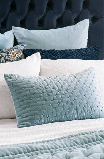 Bianca Lorenne - Mica Cushion -  Smoke Blue