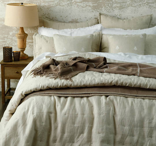 MM Linen - Laundered Linen Natural Comforter Set