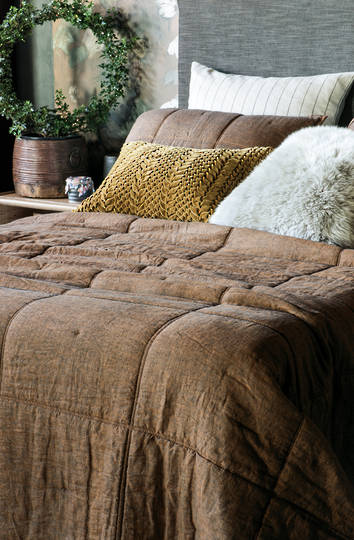 Bianca Lorenne - Noma Copper Bedspread / Pillowcase