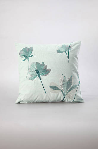 MM Linen - Petita Embroidered Cotton Cushion