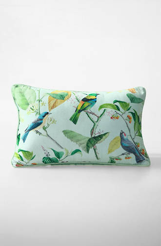 MM Linen - Aviary Long Velvet Cushion