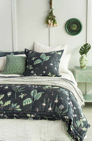 Bianca Lorenne - Botaniska Charcoal Comforter / Pillowcases and Cushion Sold Separately