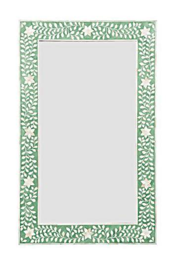 Bianca Lorenne - Bone Inlay Floral Green/Ivory Mirror - ON SALE