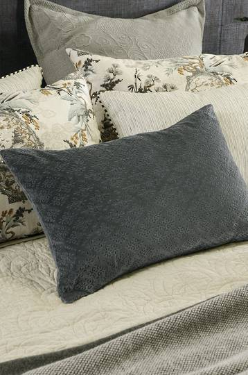 Bianca Lorenne - Sashiko Charcoal Cushion