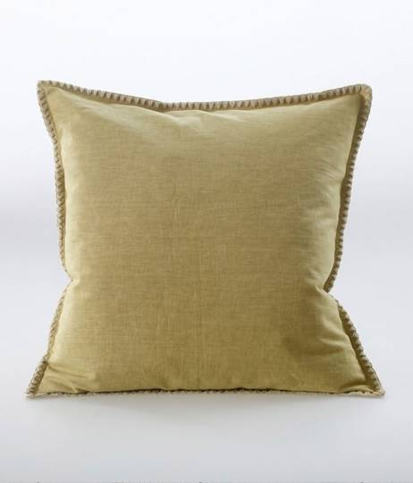 MM Linen - Stitch Cushion - Ochre