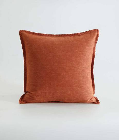 MM Linen - Stitch Cushion - Clay